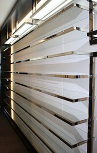 custom closet built from stainless steel tees
