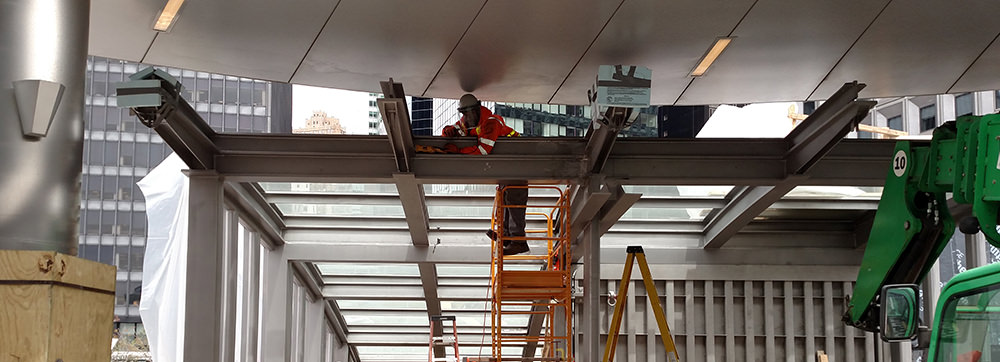 Duplex stainless steel is used on the South Ferry Terminal