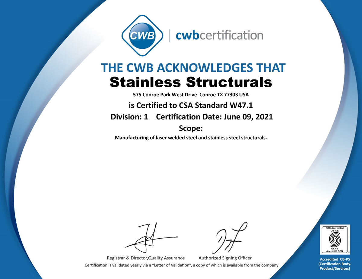 STAINLESSSTRUCTURALS-WALLCERTIFICATE